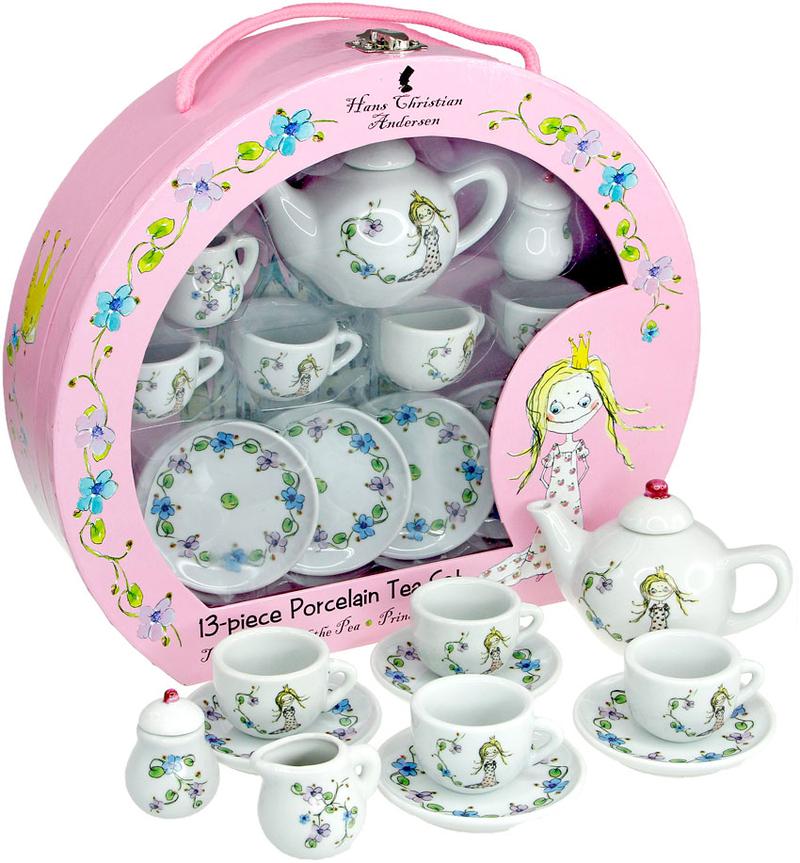 Juego de té de porcelana de la princesa y el guisante: portada