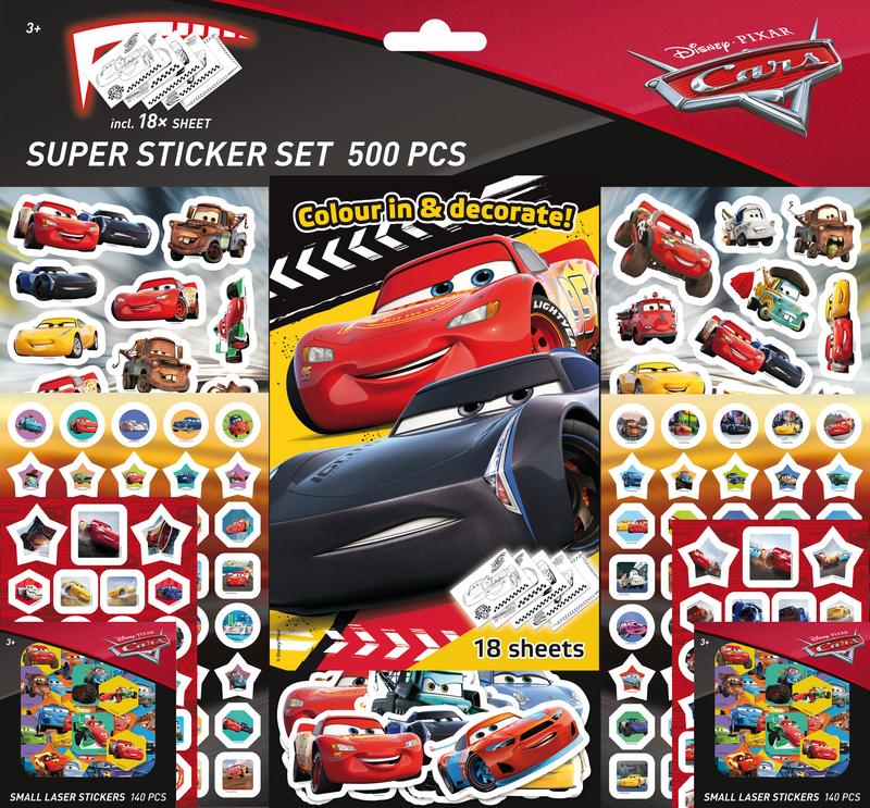 Super set de 500 pegatinas de CARS (2 ed.): portada