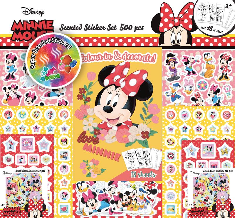 Súper set de 500 pegatinas de Minnie (3 ed.): portada