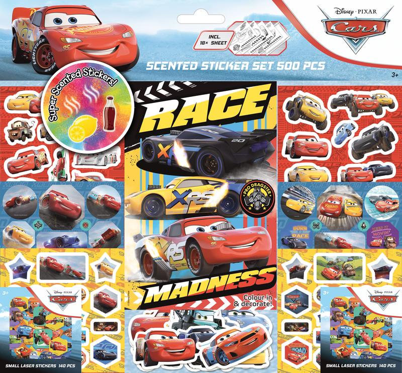 Super set de 500 pegatinas de CARS (Nueva edición): portada