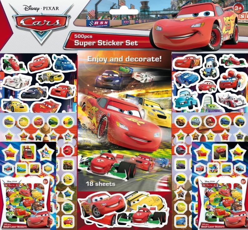 CARS SUPER STICKERS SET 500 PEGATINAS: portada