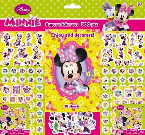 Súper set de pegatinas de Minnie: portada