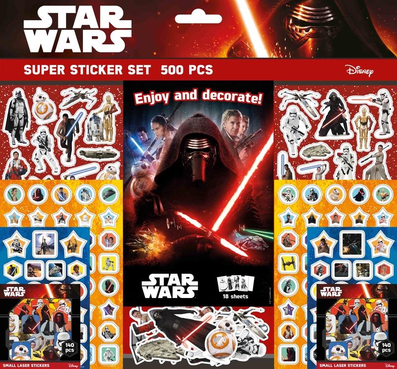 Súper set de pegatinas de Star Wars: portada