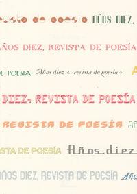 REVISTA DE POESIA AÑOS DIEZ: portada