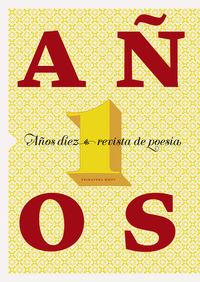 REVISTA DE POESÍA AÑOS DIEZ, Nº 1: portada