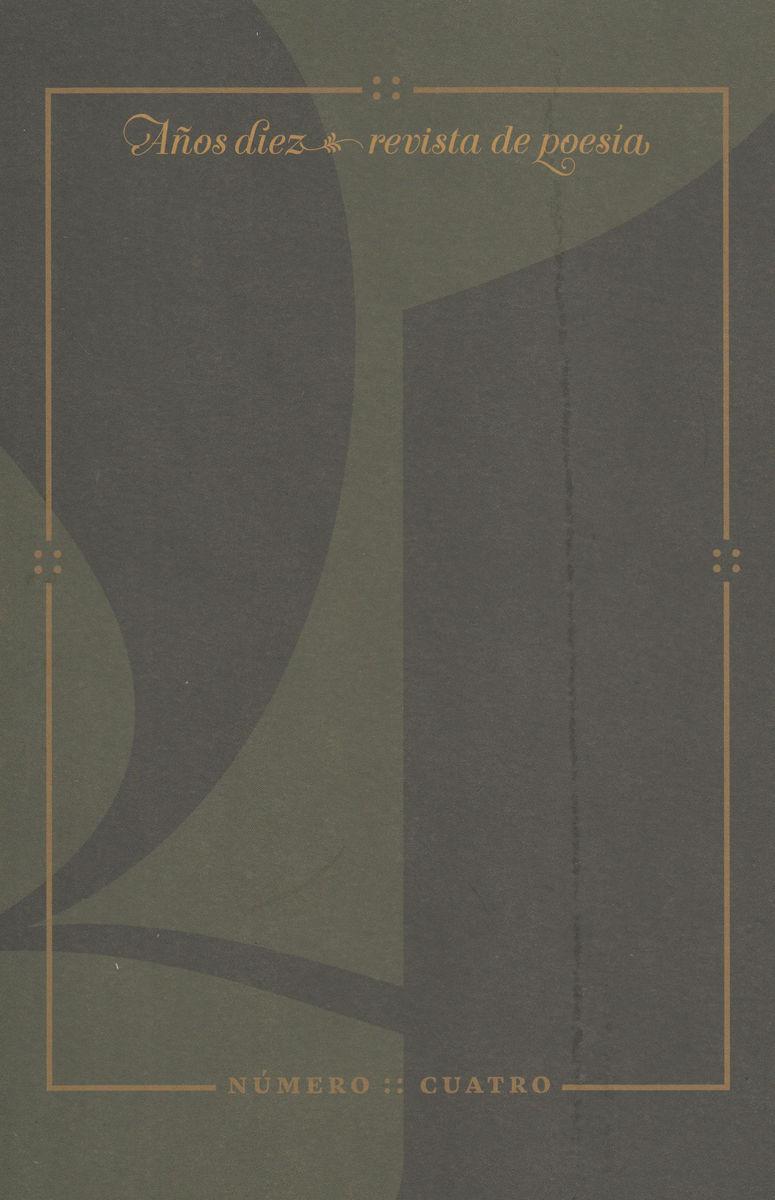 REVISTA DE POESIA AñOS DIEZ Nº 4: portada