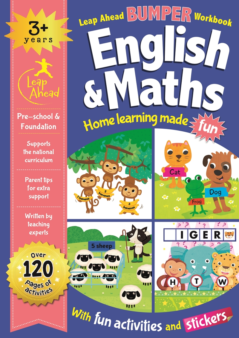 Leap Ahead Bumper Workbook: 3+ Years English & Maths: portada