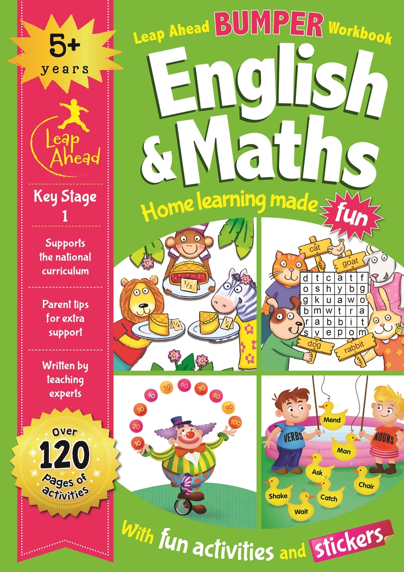 Leap Ahead Bumper Workbook: 5+ Years English & Maths: portada