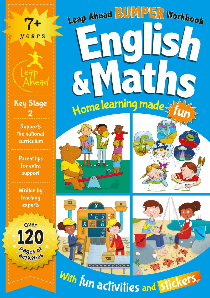 Leap Ahead Bumper Workbook: 7+ Years English & Maths: portada