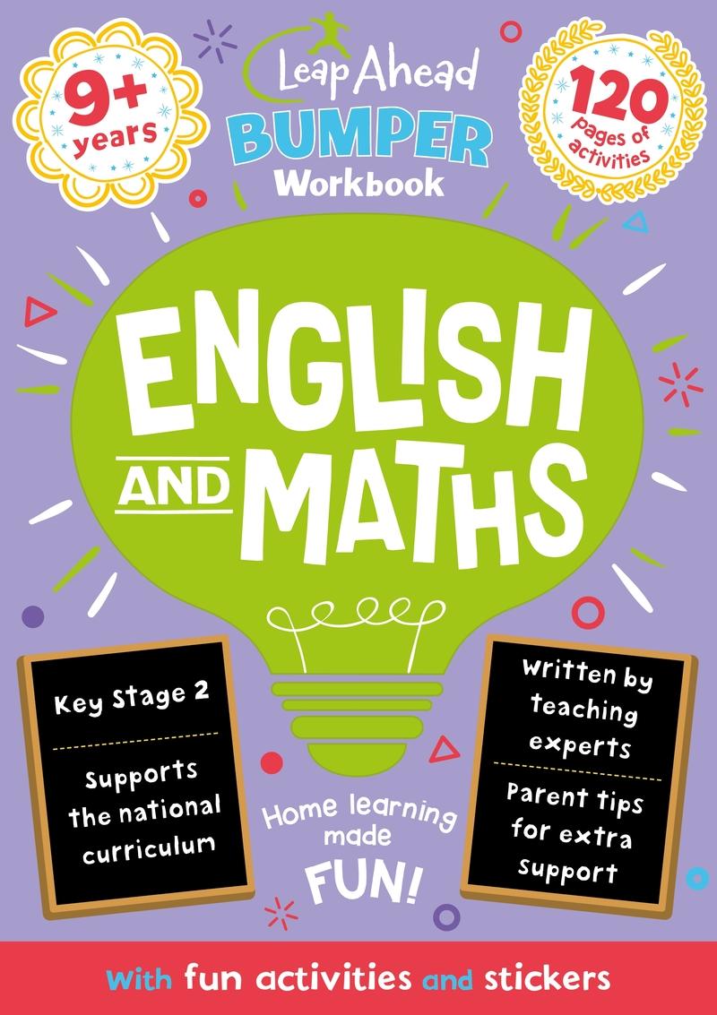 Leap Ahead Bumper Workbook: 9+ Years English and Maths: portada