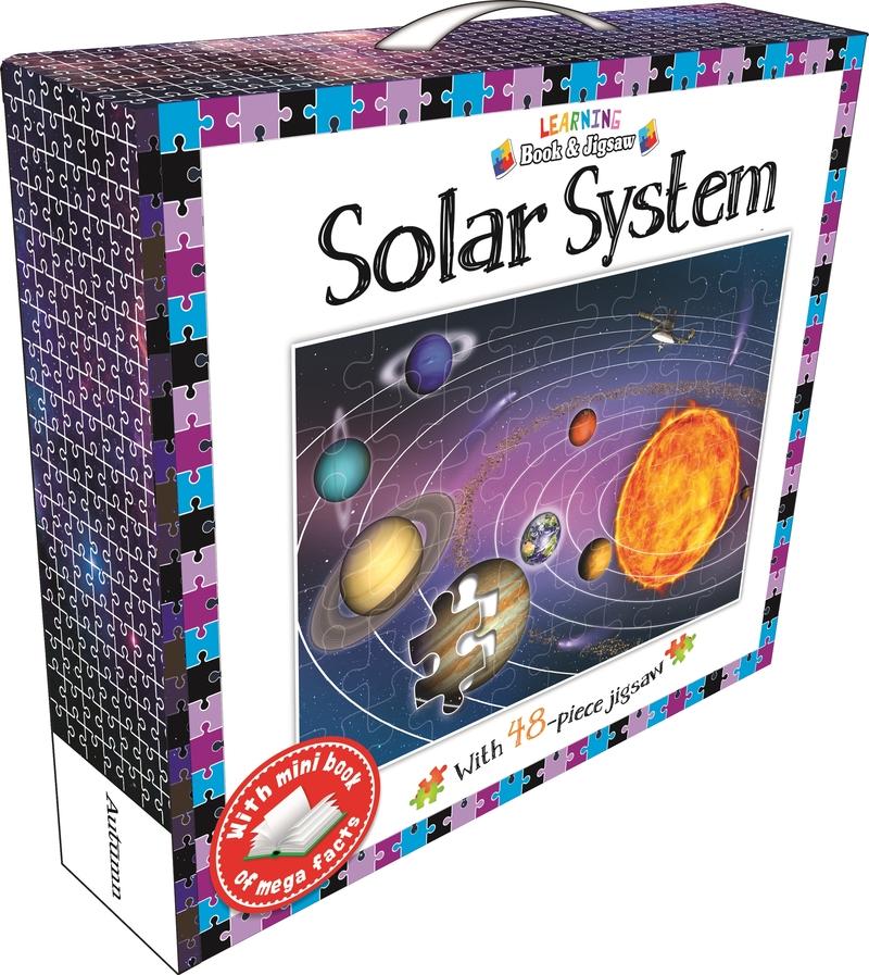Learning Book and Jigsaw Solar System: portada