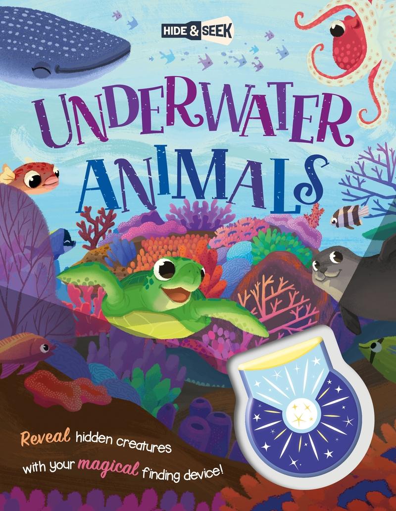 Hide-and-Seek Underwater Animals (Magical Light Book): portada