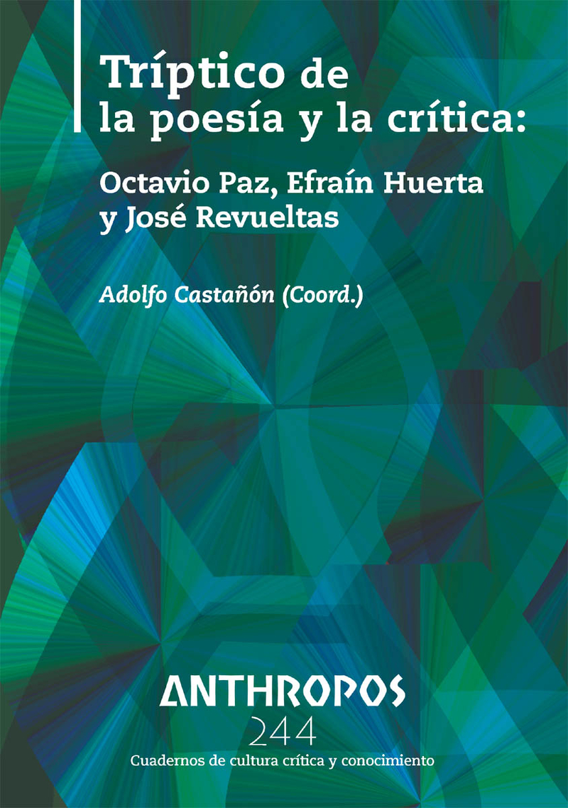 TRÍPTICO DE LA POESÍA Y LA CRÍTICA RA244: portada