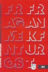 FRAGMENTOS DE FRANKFURT: portada
