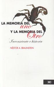 MEMORIA DEL UNO Y LA MEMORIA DEL OTRO,LA: portada