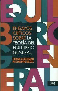 ENSAYOS CRÍTICOS SOBRE LA TEORÍA DEL EQUILIBRIO GENERAL: portada