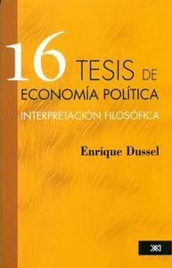 16 TESIS DE ECONOM�A POL�TICA: portada