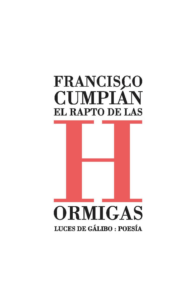 EL RAPTO DE LAS HORMIGAS: portada