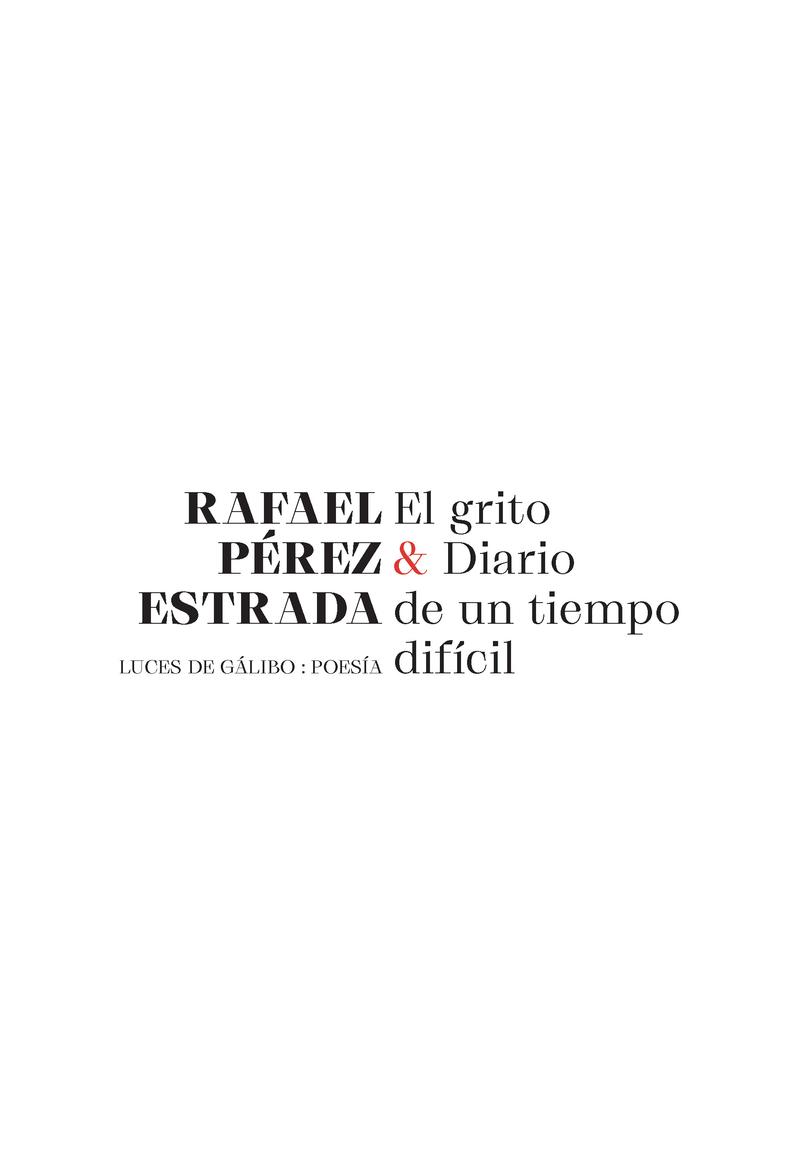 EL GRITO & DIARIO DE UN TIEMPO DIFÍCIL: portada