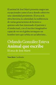 ANIMAL QUE ESCRIBE: portada