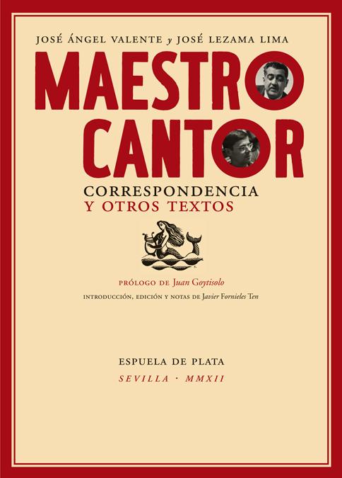 Maestro cantor. Correspondencia y otros textos.: portada