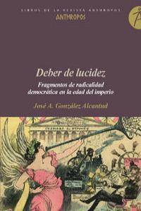 DEBER DE LUCIDEZ: portada