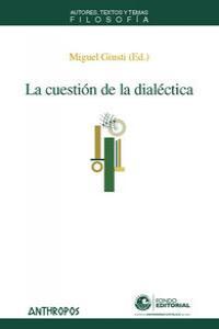 CUESTION DE LA DIALECTICA,LA: portada