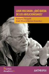 LOUK HULSMAN QUE QUEDA DE LOS ABOLICIONISMOS: portada