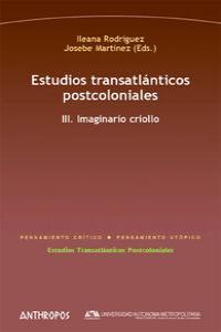 ESTUDIOS TRANSATLÁNTICOS POSTCOLONIALES. III: portada