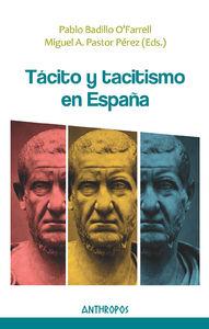 TÁCITO Y TACITISMO EN ESPAÑA: portada