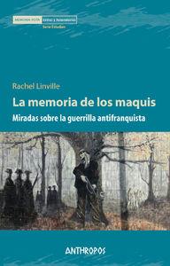 MEMORIA DE LOS MAQUIS, LA: portada