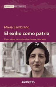 EXILIO COMO PATRIA, EL: portada