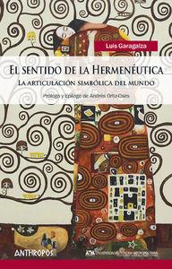 SENTIDO DE LA HERMENÉUTICA, EL: portada