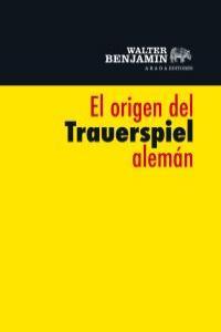 El origen del Trauerspiel alemán: portada