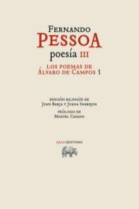 POESÍA III. Los poemas de Álvaro de Campos 1 (ed bilingüe): portada