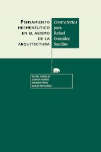 Pensamiento hermenéutico en el abismo de arquitectura: portada