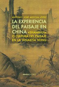 La experiencia del paisaje en China: portada
