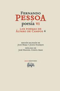POESÍA VI. LOS POEMAS DE ÁLVARO DE CAMPOS 4: portada