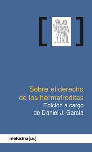 Sobre el derecho de los hermafroditas: portada