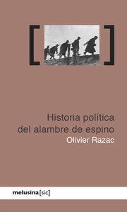 Historia política del alambre de espino: portada
