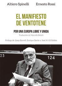 El manifiesto de Ventotene: portada