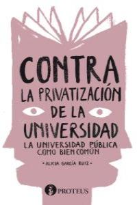 Contra la privatización de la universidad: portada