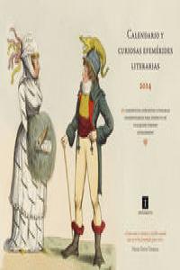 CALENDARIO Y CURIOSAS EFEMERIDES LITERARIAS 2014: portada