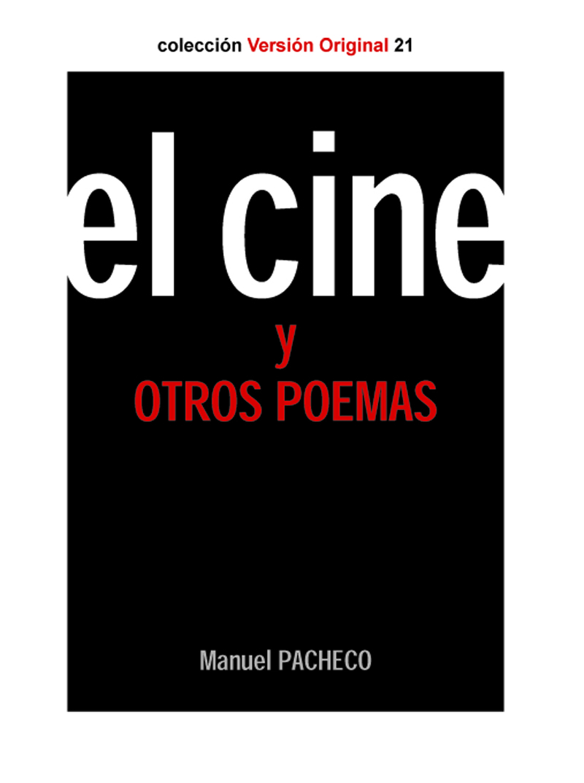 EL CINE Y OTROS POEMAS: portada