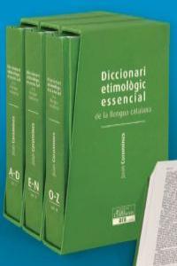 Diccionari etimològic essencial de la llengua catalana Joan: portada