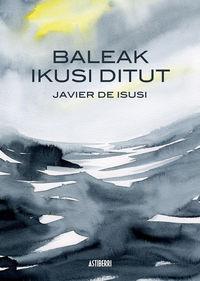 BALEAK IKUSI DITUT: portada