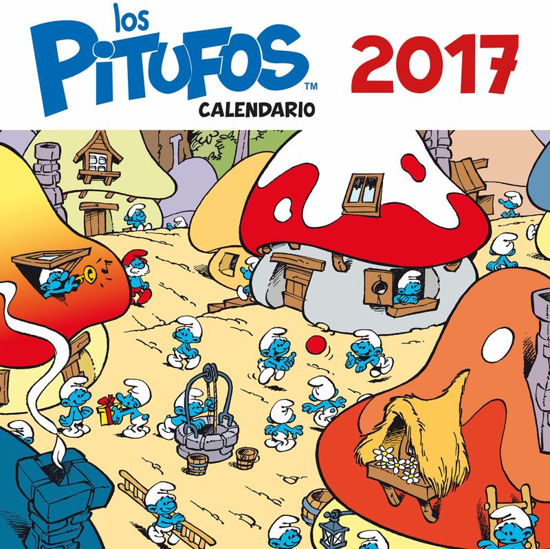 Calendario de Los Pitufos 2017: portada