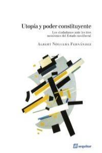 Utopía y poder constituyente: portada