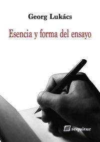 Esencia y forma del ensayo: portada