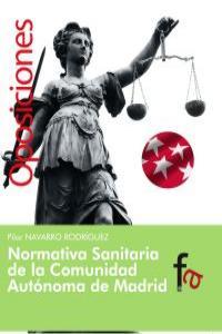 NORMATIVA SANITARIA DE LA COMUNIDAD AUTÓNOMA DE MADRID: portada